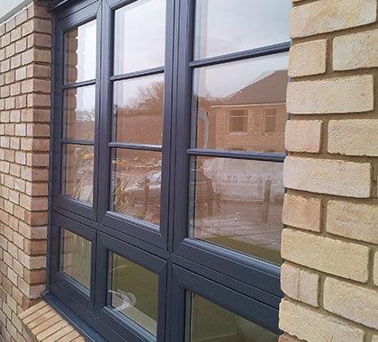 flush sash windows anthracite-grey