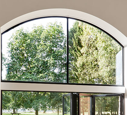 shaped windows large glass