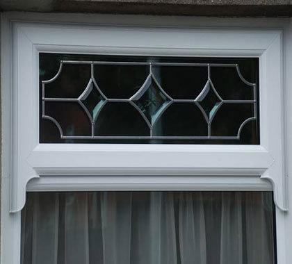 leaded horned windows