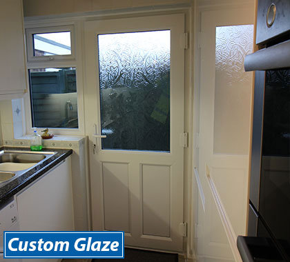 Upvc front and back doors custom glaze front doors for White back door