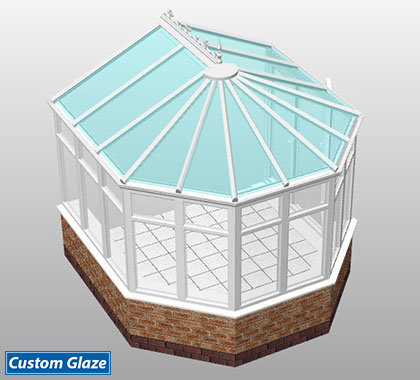 3 part victorian glass roof