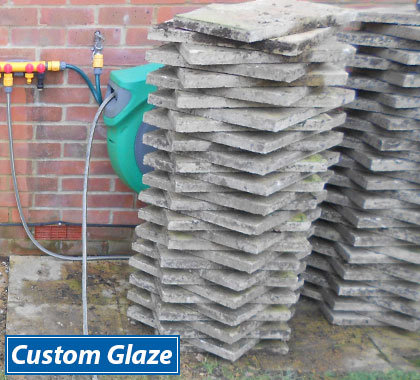 Custom Glaze will lift, stack or dispose of your paving slabs.