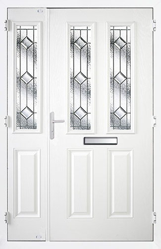 Door and Half in White with Simplicity Glass