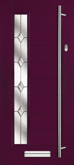 Halley Farmhouse Left in Aubergine with Classic Glass