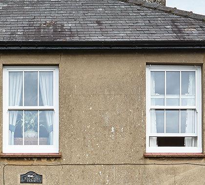 horned sash windows open