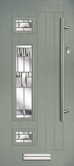 Neptune Farmhouse Left in Agate Grey with Prairie Glass