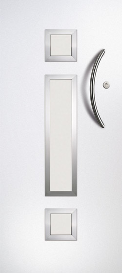 Neptune Smooth Centre in White with Satin Glass