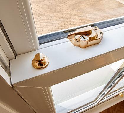 sliding sash windows close up