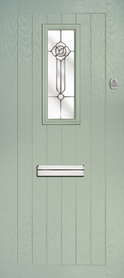 Solar Farmhouse in Chartwell Green with Crystal Flowers Glass