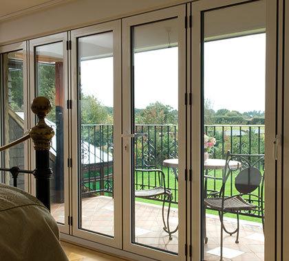 bedroom aluminium bi fold doors