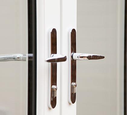 chrome handles french doors