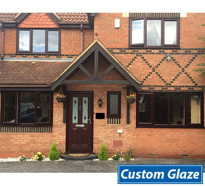 rosewood casement windows on house