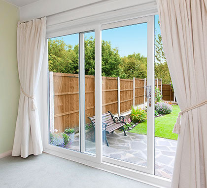 sliding doors white