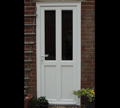 Upvc front and back doors custom glaze front doors for Upvc door frame