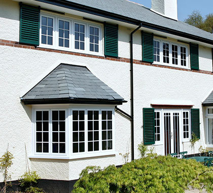 White Alitherm windows